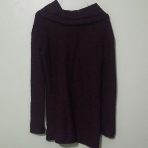 Merona Sweaters - Long Maroon Turtleneck